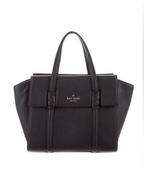 820cc399273 Kate Spade - Metallic Pebbled Handle Bag Black - Lyst ...