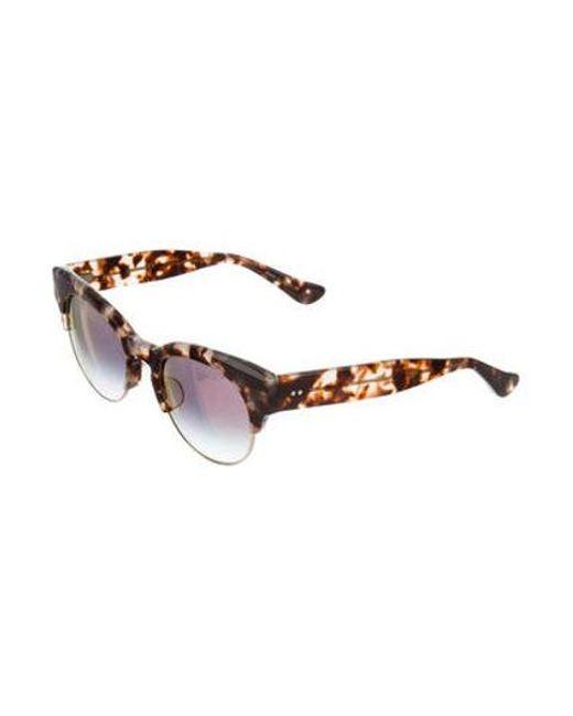 bc0a00f1545 ... Dita - Metallic Liberty Mirrored Sunglasses Brown - Lyst ...