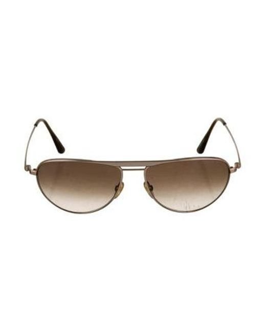 fffba00f0dac Tom Ford - Metallic William Aviator Sunglasses Gold - Lyst ...
