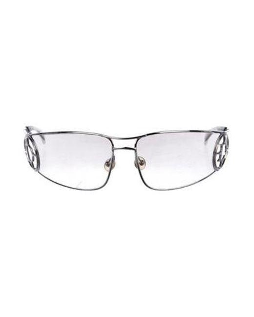 404fbec359bc Dior - Metallic Gradient Shield Sunglasses Silver - Lyst ...