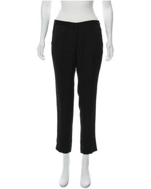 Tibi - Black Straight Leg Woven Pants - Lyst