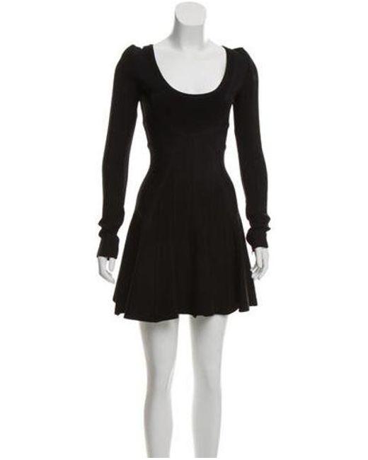 Lyst Herv Lger Long Sleeve Bandage Dress In Black