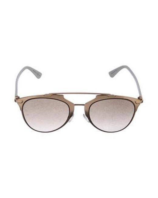 89d63d25b505 Dior - Metallic Reflected Aviator Sunglasses Gold - Lyst ...