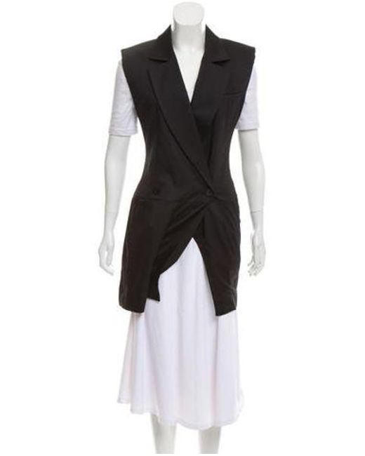 145b5a9adba5 Louis Vuitton - Black Notch-lapel Structured Romper - Lyst ...