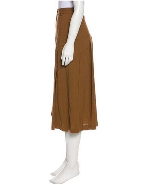 78cf2ac3968c4 ... R R Studio - Brown High-rise Pleated Culottes - Lyst ...