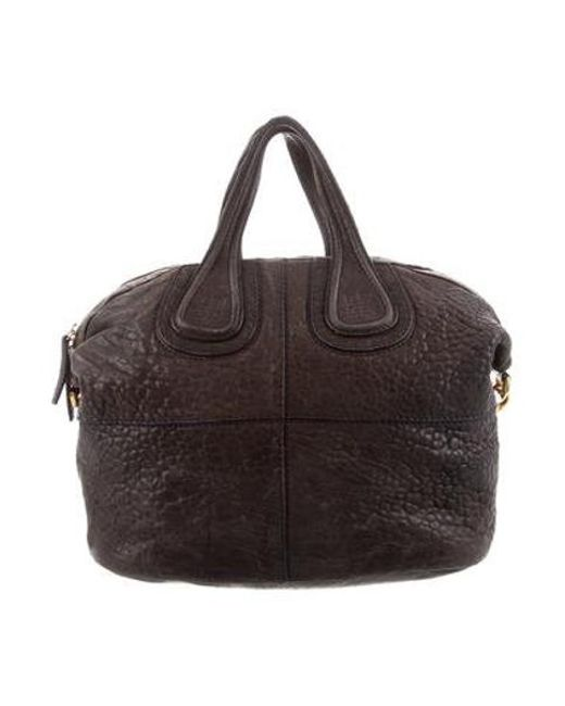 6ae21fc06714 Givenchy - Metallic Leather Nightingale Satchel Brown - Lyst ...