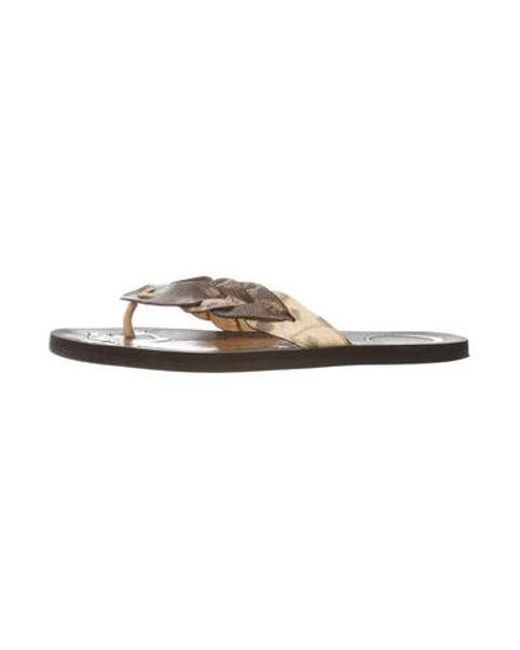 c91fc35dc602a Bottega Veneta - Natural Karung Woven Flip-flops Brown for Men - Lyst ...