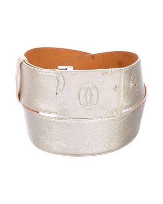Cartier - Metallic Logo Belt Gold - Lyst ... db6a16f7ed2