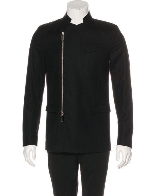 Dior Homme - Natural Wool Asymmetrical-zip Blazer Black for Men - Lyst