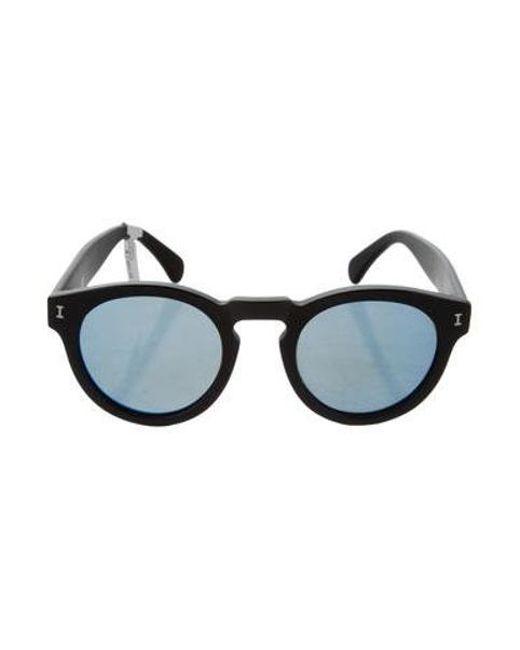 558cf957cdb1f Illesteva - Black Leonard Mirrored Sunglasses - Lyst ...