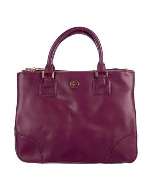 87dd70252790 Tory Burch - Metallic Robinson Double-zip Tote Violet - Lyst ...