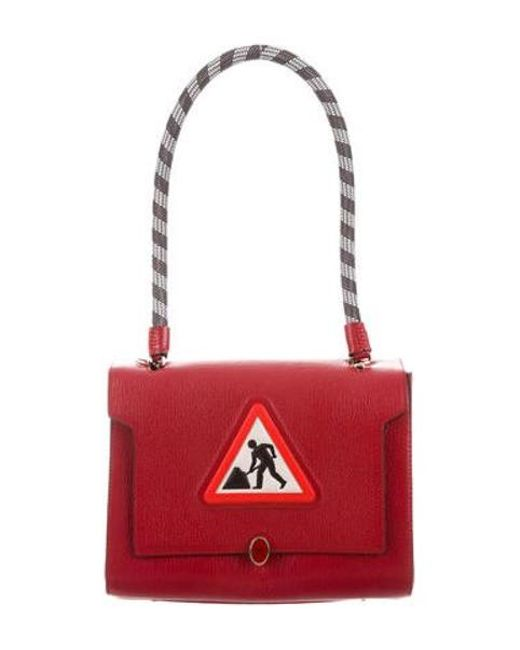 Anya Hindmarch - Metallic Embroidered Shoulder Bag Red - Lyst ... 7652fb96750ed