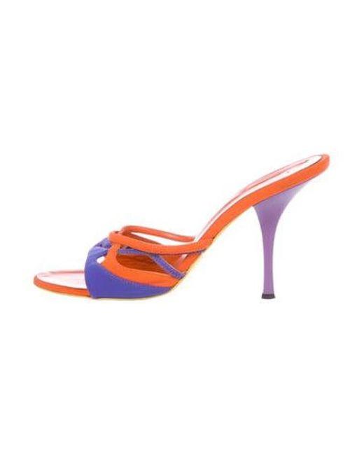002c928da9c0 Lyst - Giuseppe Zanotti Neoprene Slide Sandals Orange in Orange
