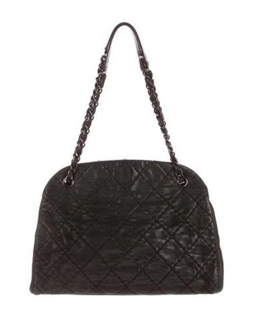 ... Chanel - Metallic Just Mademoiselle Large Bowler Bag - Lyst dc0d478fb09c8