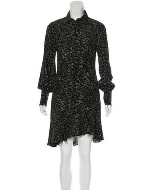 Lyst 10 Crosby Derek Lam Long Sleeve Knee Length Dress In Black
