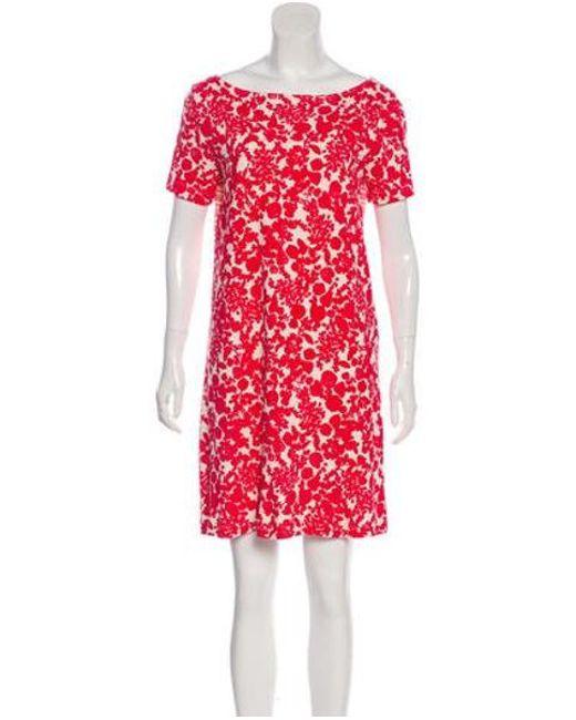 5cc2a6d7c32e Tory Burch - Red Floral Mini Dress - Lyst ...