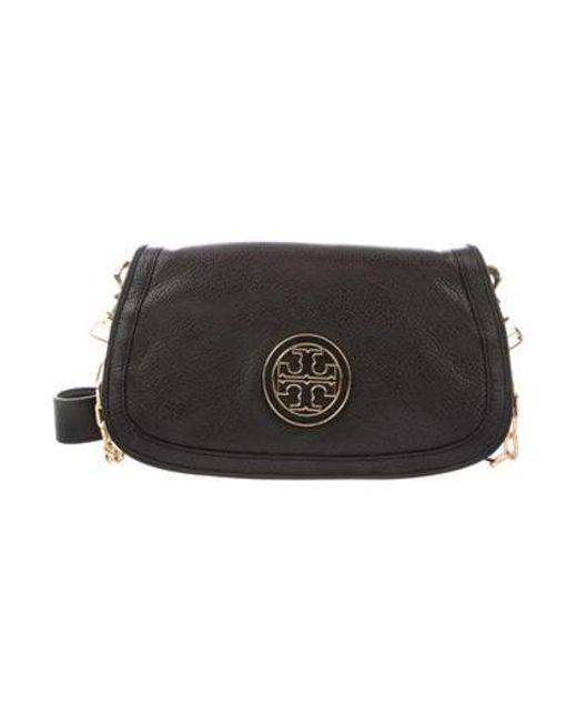 2c7103abd31 Tory Burch - Metallic Leather Crossbody Bag Black - Lyst ...
