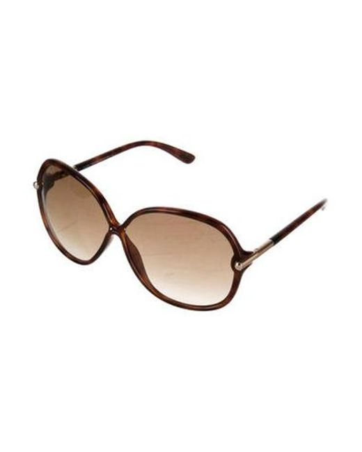 26fcf35691 ... Tom Ford - Brown Islay Round Sunglasses - Lyst ...