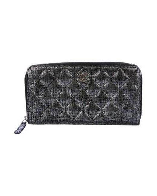 Chanel - Metallic L Gusset Wallet - Lyst ... 6ebc43c2d3521