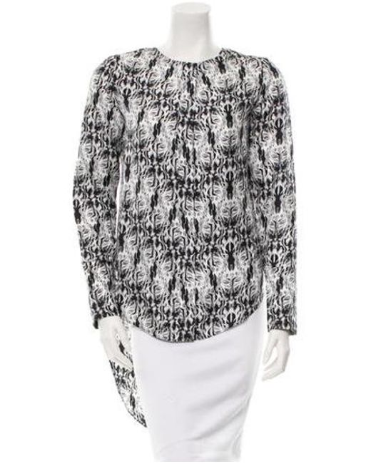 Thomas Wylde - Gray Long Sleeve Button-up Top W/ Tags Black - Lyst