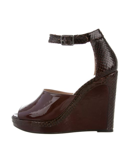 Maison Margiela Round-Toe Leather Wedges w/ Tags free shipping shopping online outlet classic YPp9ej3