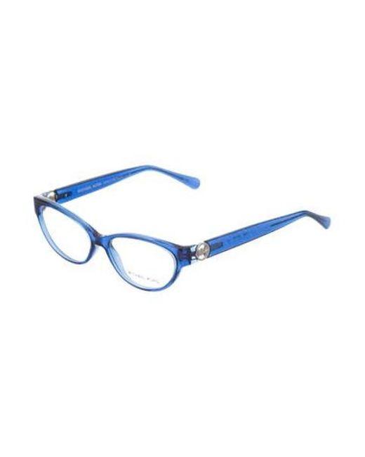 61f879d83e6 ... Michael Kors - Metallic Cat-eye Glitter Eyeglasses Silver - Lyst ...