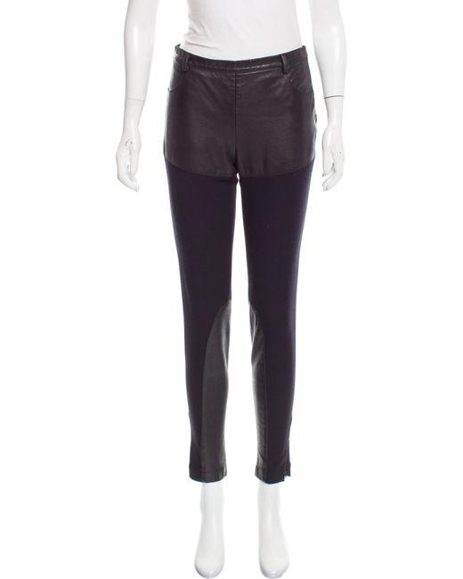 Jean Paul Gaultier - Black Mid-rise Wool Pants - Lyst