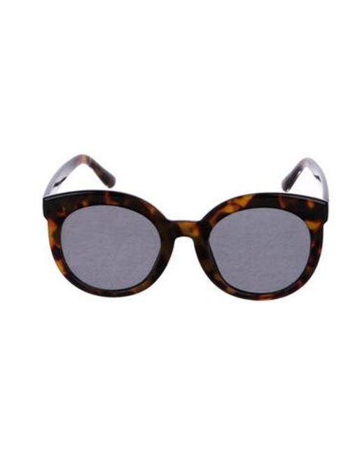 7c46f7c22e Gentle Monster - Brown Round Tortoiseshell Sunglasses - Lyst ...