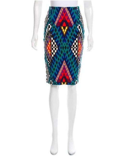 Mara Hoffman - Green Geometric Print Pencil Skirt W/ Tags - Lyst
