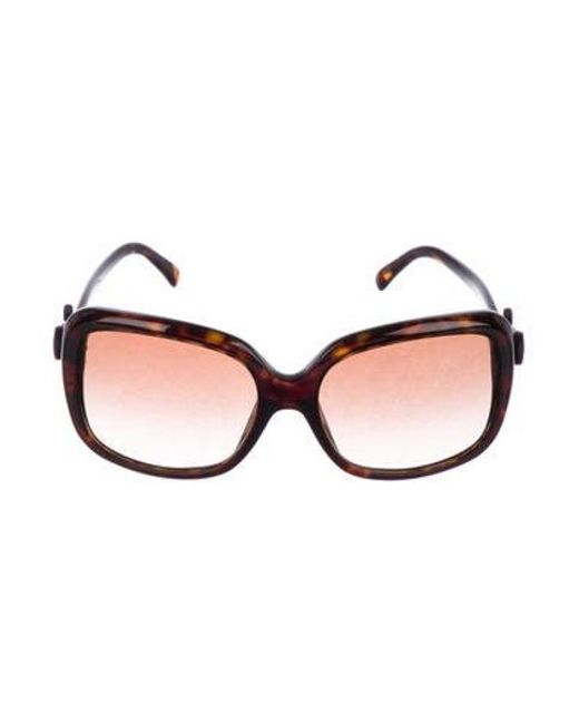 a568f7ec0ee1 Chanel - Metallic Bow-embellished Cc Sunglasses Brown - Lyst ...