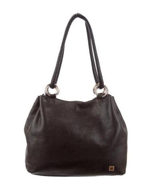 a80f56b9e753 Balmain - Metallic Leather Shoulder Bag Black - Lyst ...