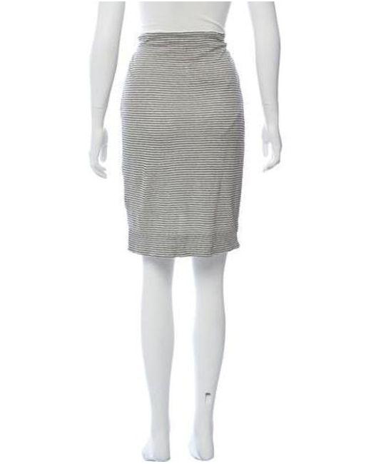 89dbb13406b4 ... Alice + Olivia - Black Linen Striped Skirt - Lyst