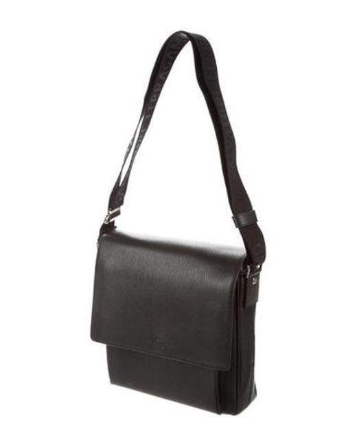 ... Ferragamo - Metallic Cosmopolitan Messenger Bag Black for Men - Lyst ... 99694121f1ec0