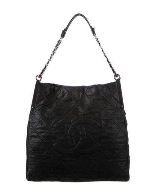 0d2c4de2b91146 Chanel - Metallic Sea Hit Shoulder Bag Black - Lyst ...