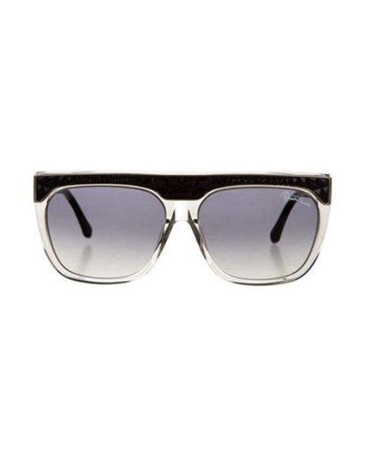 Roberto Cavalli - Metallic Albireo Shield Sunglasses Clear - Lyst