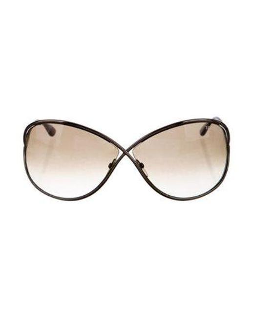4745ccc8027cb Tom Ford - Brown Miranda Oversize Sunglasses - Lyst ...