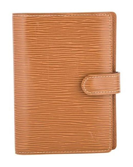 a4410b44c3758 Louis Vuitton - Natural Epi Small Ring Agenda Cover Pm Tan - Lyst ...