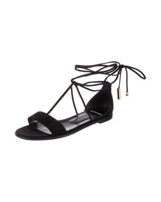 a2ac9a79b3c759 ... Pierre Hardy - Metallic Suede Wrap-around Sandals Black - Lyst ...