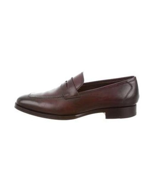 f237eed8136 Tom Ford - Brown Leather Penny Loafers for Men - Lyst ...
