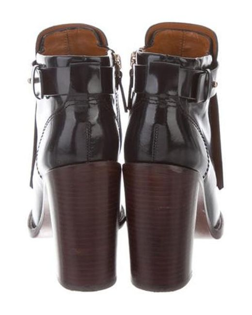 5d6c3524e1b697 ... Tory Burch - Metallic Hyde Ankle Boots Navy - Lyst