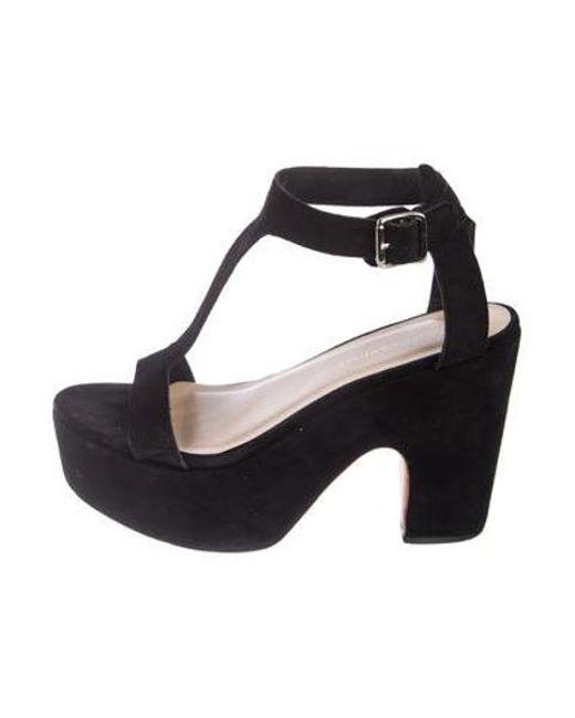 a2761cec5b58 Loeffler Randall - Metallic Suede Ankle Strap Sandals Black - Lyst ...