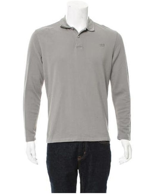 0d2f677c Class Roberto Cavalli - Gray Long Sleeve Polo Shirt Grey for Men - Lyst ...