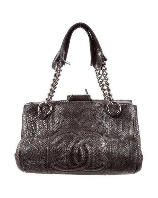 8ec42bff910d Chanel - Metallic Python Perfect Day Bag Silver - Lyst ...