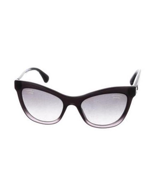 Lyst - Chanel Polarized Cat-eye Sunglasses in Black
