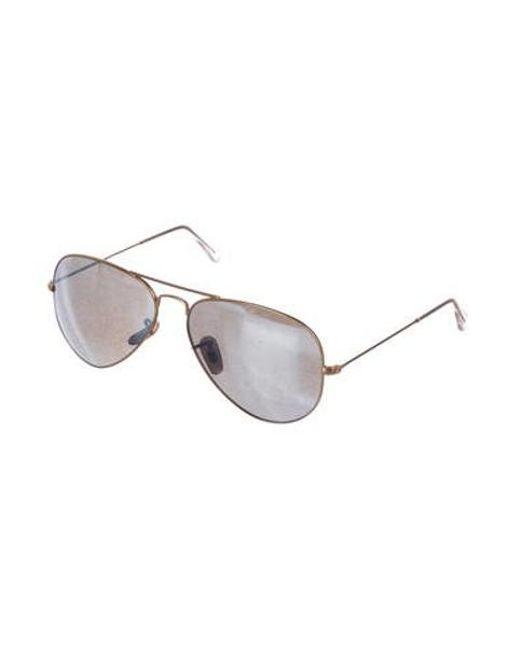 6052cc7d1d4 ... Ray-Ban - Metallic Large Metal Aviator Sunglasses Gold - Lyst ...