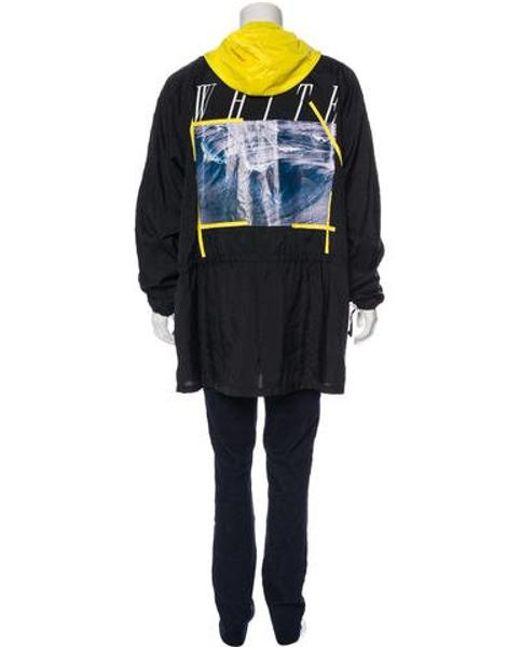 7435e3225beb ... Off-White c o Virgil Abloh - Yellow Waves Oversized Anorak Jacket W