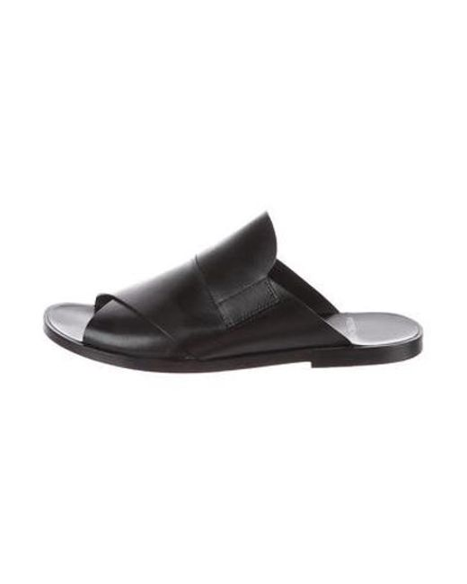 6df9200426f8 Lyst - Pierre Hardy Leather Slide Sandals in Black for Men - Save ...