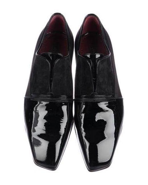 6fc84398ff9 ... Louis Vuitton - Black Patent Leather Cap-toe Oxfords for Men - Lyst ...