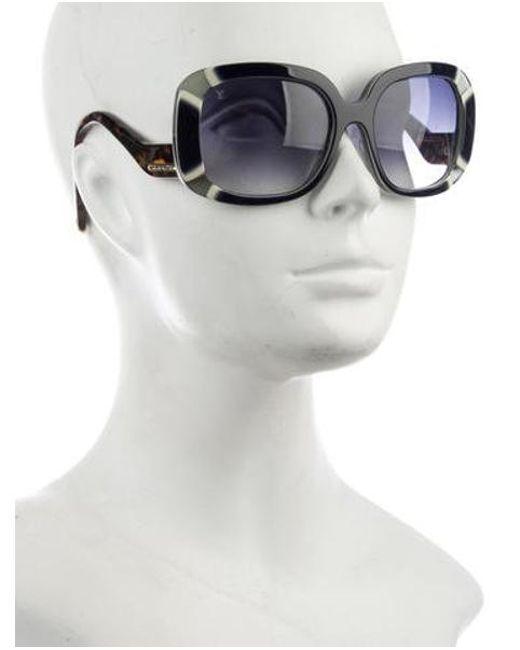 0b27a126e2ac ... Louis Vuitton - Metallic Anemone Square Sunglasses Blue - Lyst