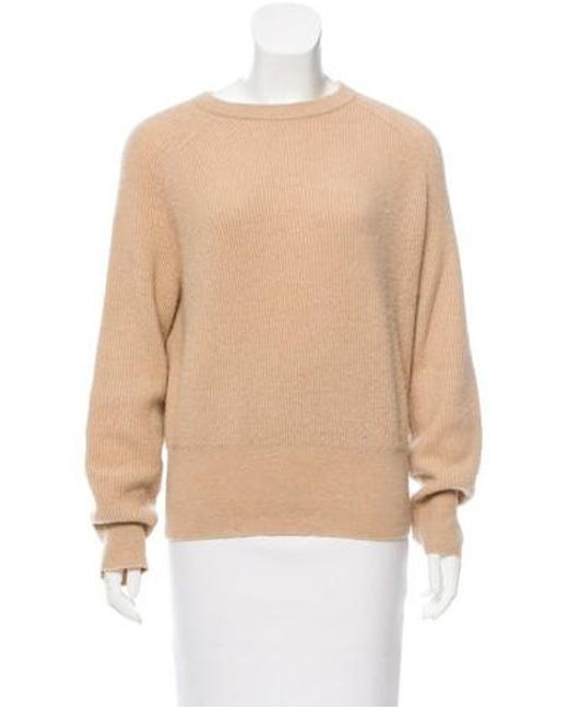 The Row - Natural Rib Knit Camel Sweater Neutrals - Lyst